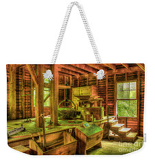 Weekender Tote Bag featuring the photograph Grindingworks Mingus Mill Great Smoky Mountains Art by Reid Callaway