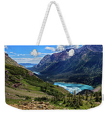 Grinell Hike In Glacier National Park Weekender Tote Bag by Andres Leon