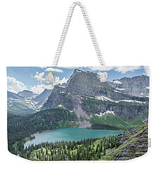Grinnell Lake From Afar Weekender Tote Bag by Alpha Wanderlust