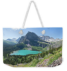 Grinnell Lake Panoramic - Glacier National Park Weekender Tote Bag