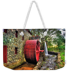 Weekender Tote Bag featuring the photograph Grist Mill In Autumn by Joann Vitali