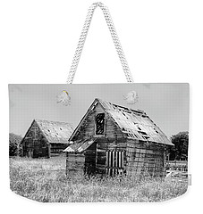 Grizzled Acres In Black And White Weekender Tote Bag by Kandy Hurley