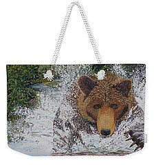 Grizzly Chase Weekender Tote Bag