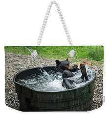 Grizzly Bathing Weekender Tote Bag