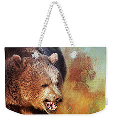 Grizzly Bear Weekender Tote Bag