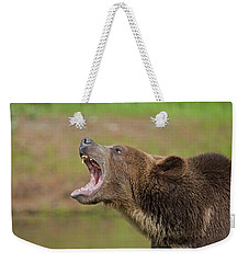 Grizzly Bear Growl Weekender Tote Bag