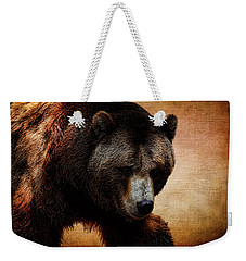 Grizzly Bear Weekender Tote Bag by Judy Vincent