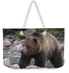 Grizzly Bear Weekender Tote Bag by Kathie Miller
