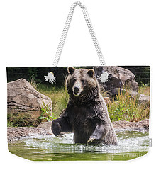 Grizzly Bear Wading Weekender Tote Bag