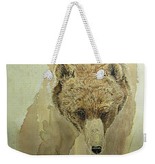 Weekender Tote Bag featuring the painting Grizzly Bear1 by Laurianna Taylor
