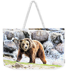 Grizzly Falls Weekender Tote Bag by Steve McKinzie