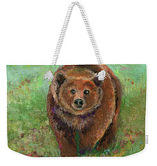 Grizzly In The Meadow Weekender Tote Bag