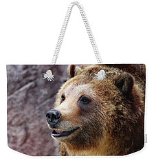 Grizzly Smile Weekender Tote Bag by Elaine Malott