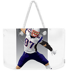Weekender Tote Bag featuring the digital art Gronk by Scott Weigner