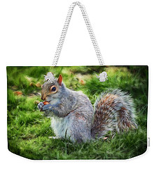 Weekender Tote Bag featuring the photograph Ground Squirrel by Pennie  McCracken