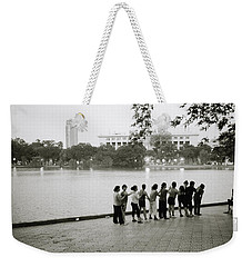 Group Massage Weekender Tote Bag by Shaun Higson