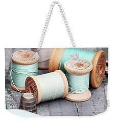 Group Of Vintage Sewing Notions Weekender Tote Bag