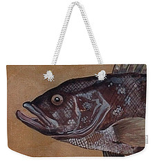 Grouper Weekender Tote Bag by Andrew Drozdowicz