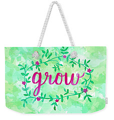 Grow Watercolor Weekender Tote Bag
