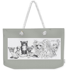Growing Up Chinese Crested And Powderpuff Weekender Tote Bag