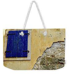 Groznjan Istrian Hill Town Stonework And Blue Shutters  - Istria, Croatia Weekender Tote Bag