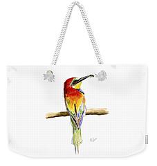 Gruccione  - Bee Eater - Merops Apiaster Weekender Tote Bag by Raffaella Lunelli