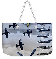 Grumman Blue Angels Cats Weekender Tote Bag