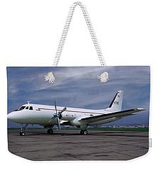 Grumman G-159 Gulfstream Patiently Waits, N719g Weekender Tote Bag