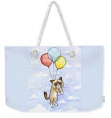 Grumpy Cat And Balloons Weekender Tote Bag