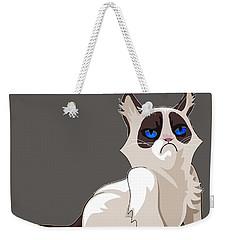 Grumpy Cat Weekender Tote Bag by EricaMaxine  Price