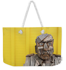 Weekender Tote Bag featuring the photograph Grumpy Old Man by Edward Fielding