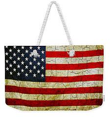 Grunge American Flag  Weekender Tote Bag