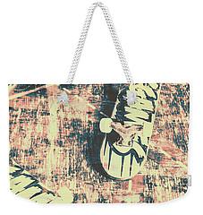 Grunge Skateboard Poster Art Weekender Tote Bag