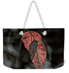 Weekender Tote Bag featuring the photograph Grungy Leaves by Elaine Teague
