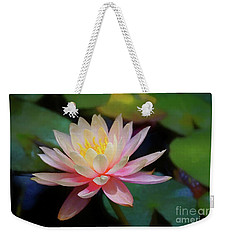 Weekender Tote Bag featuring the photograph Grutas Water Lilly by John Kolenberg