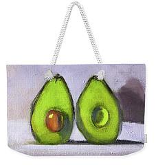Weekender Tote Bag featuring the painting Guacamole by Nancy Merkle
