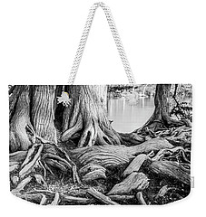 Guadalupe Bald Cypress In Black And White Weekender Tote Bag