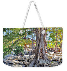 Weekender Tote Bag featuring the photograph Guadalupe River by Savannah Gibbs