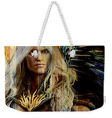 Weekender Tote Bag featuring the painting Guardian 2 by Suzanne Silvir