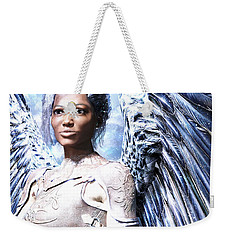 Weekender Tote Bag featuring the painting Guardian Angel2 by Suzanne Silvir