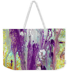 Guardian Angels - Colorful Spiritual Abstract Art Painting Weekender Tote Bag