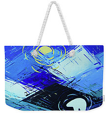 Weekender Tote Bag featuring the painting Guardian Bear Winter by Jeanette French