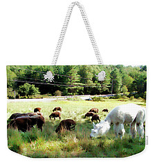 Weekender Tote Bag featuring the photograph Guardian by Betsy Zimmerli