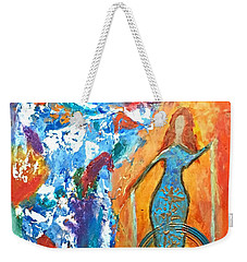 Guardian Of Rainbow Light Weekender Tote Bag
