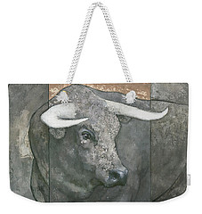 Weekender Tote Bag featuring the painting Guardian by Steve Mitchell