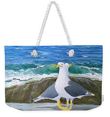 Guarding The Land And Sea Weekender Tote Bag