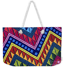Guatemala Colorful Abstract Photograph - Guatemalan Diamonds  Weekender Tote Bag