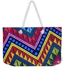 Guatemala Colorful Abstract Photograph - Guatemalan Diamonds  Weekender Tote Bag