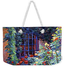Guesthouse Rose Garden Weekender Tote Bag by David Lloyd Glover
