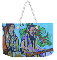 Weekender Tote Bag featuring the painting Gugin-seven Strings by Denise Weaver Ross